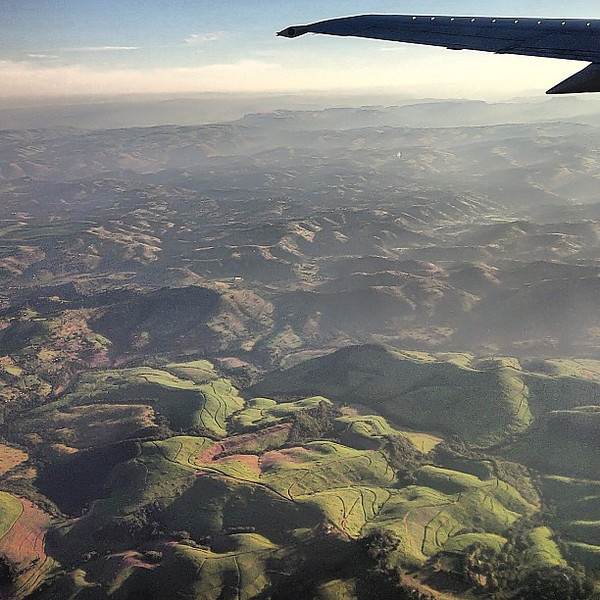 So green! Up in the air: Drakensberg Range, just outside #Durban en route to Johannesburg #SouthAfrica