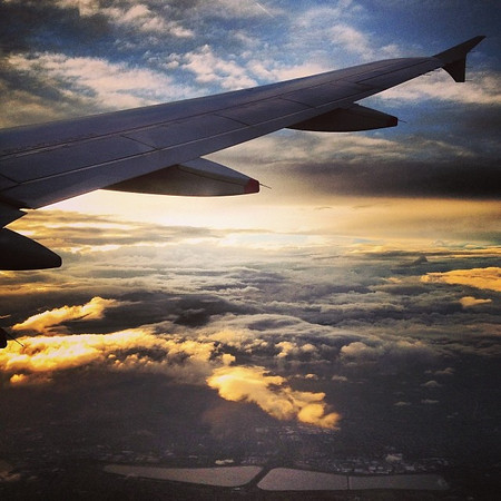 Up in the air sunset, en route to London (making our way to Johannesburg, then Windhoek, Namibia). Hop, hop, hop.