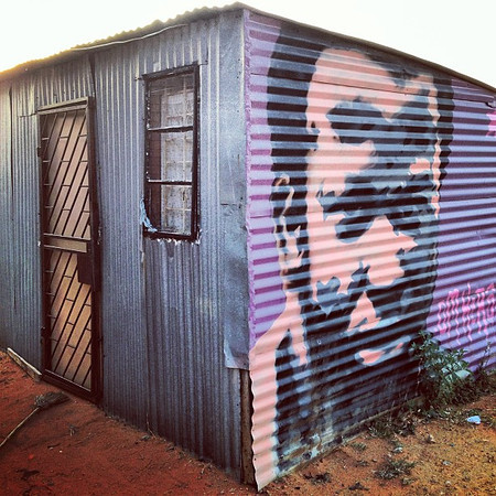 Faces of Soweto. Seen on the street, tin graffiti. #SouthAfrica