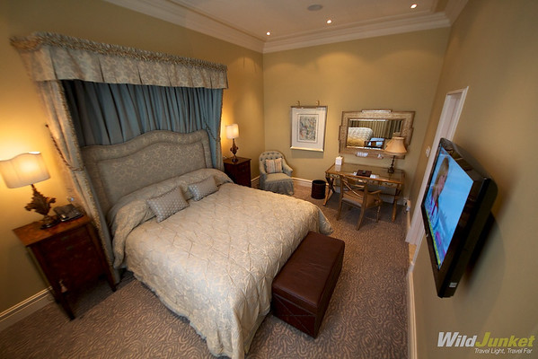 The Beautifully Decorated Bedroom in our Suit at Monarch Hotel