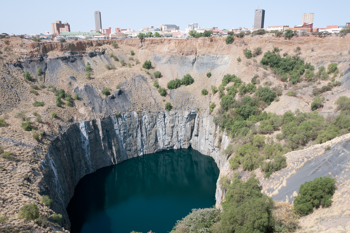The world's largest hand dug hole: The Big Hole, Kimberly, South Africa