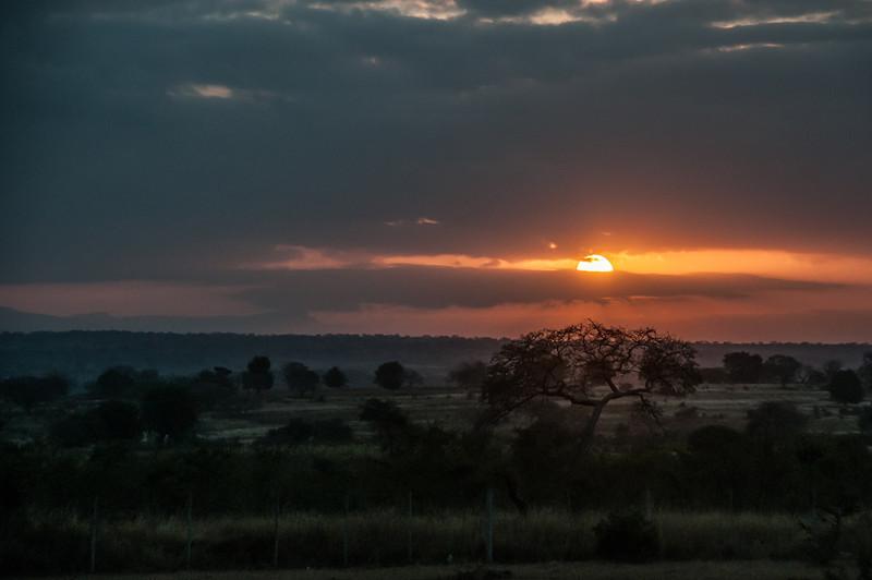 Sunset in Kruger National Park