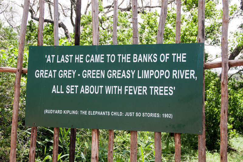 Sign at Mapungubwe National Park, Limpopo, South Africa