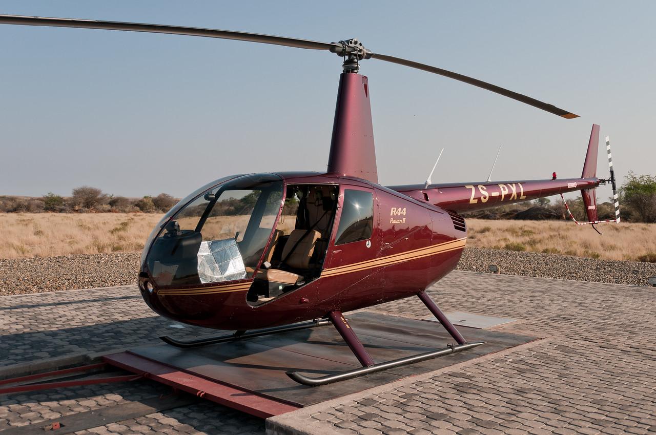 Helipad in Mattanu Private Game Reserve in South Africa