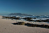 View of Table Mountain from Melkbosstrand, South Africa.  August 2017