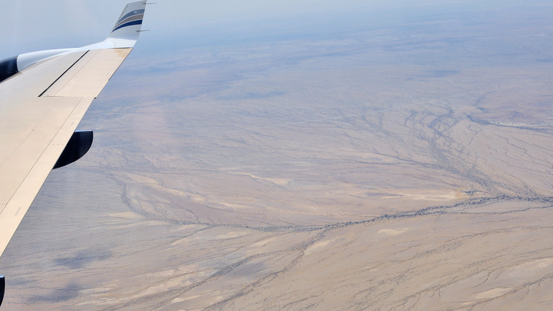 Namibian Landscapes from the air on the way to Keetmanshoop