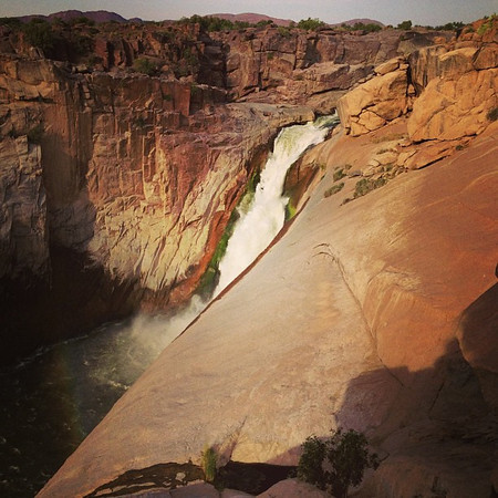 Augrabies Falls, late afternoon in the canyon. Power + light = impressive! Northern Cape #SouthAfrica