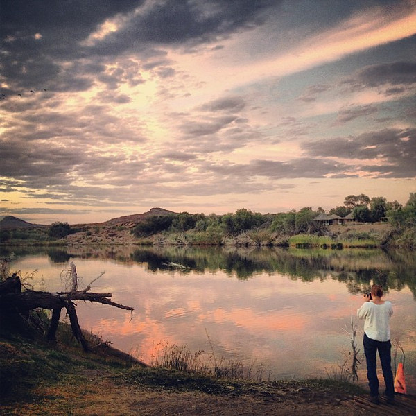 Sunset along the Orange River - Northern Cape, South Africa