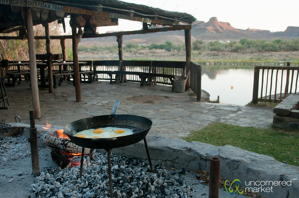 Fried Eggs on the Braai (South African BBQ) - Northern Cape