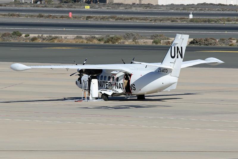 """ZS-ATD Let L-410 UVP E20 c/n unknown Las Palmas/GCLP/LPA 21-11-20 """"United Nations"""""""