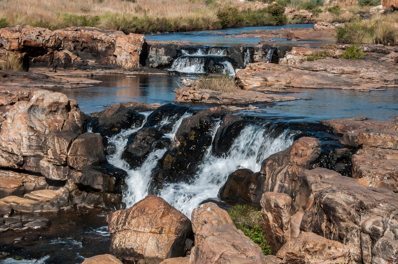 Waterfalls in Mkambati Nature Reserve, South Africa