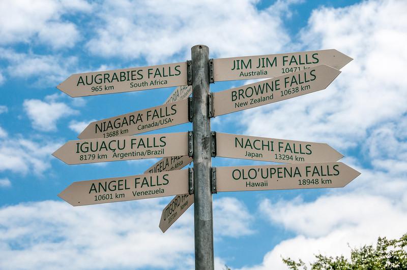 Mileage marker in Pietermaritzburg, South Africa