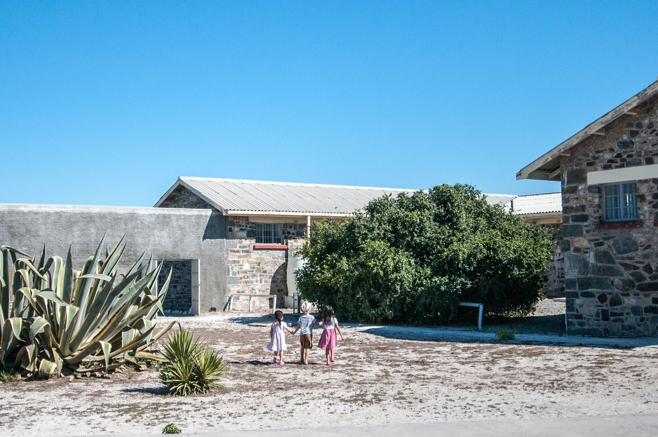 Kids in Robben Island, South Africa