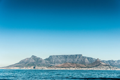 View of Robben Island Village in South Africa