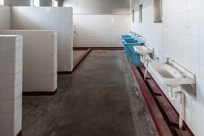 Bathroom inside former prison in Robben Island