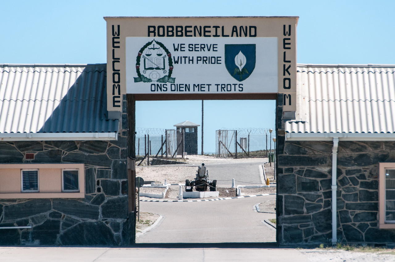Gate to Robben Island, South Africa