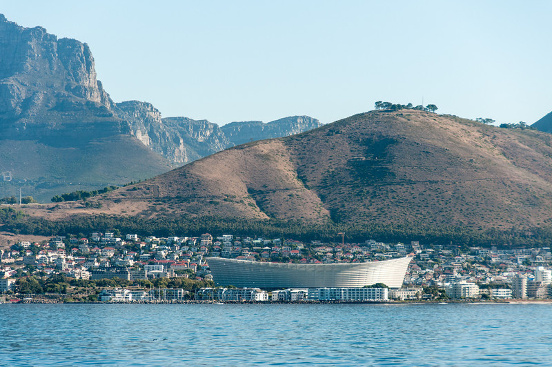 View of Robben Island in South Africa