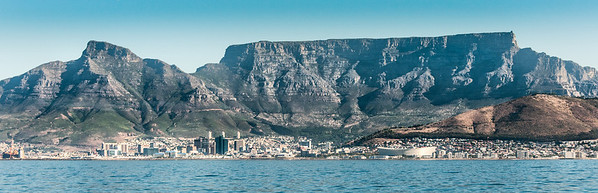 Panorama of Robben Island in South Africa