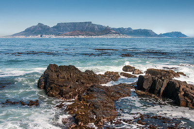 View of the Robben Island Village in South Africa