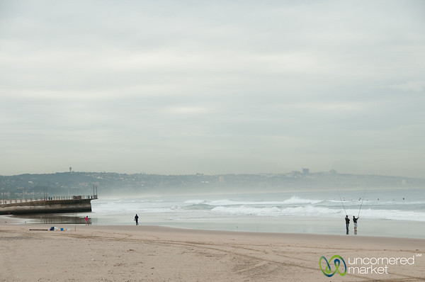 Fishing on Durban's Beach - KwaZulu-Natal, South Africa