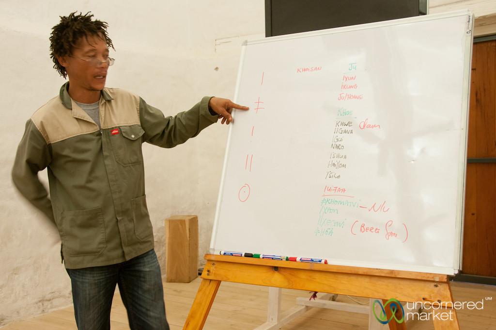 San Language Lessons at !Khwa ttu San Cultural Center - Western Cape, South Africa