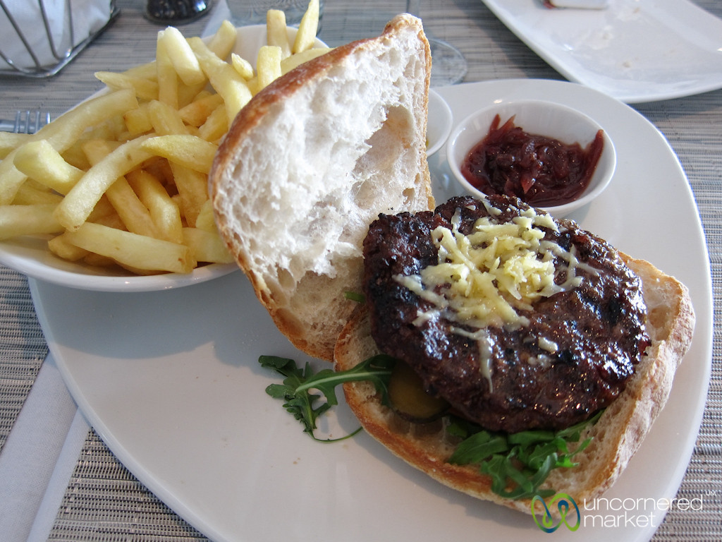 Ostrich Burger at Two Oceans Restaurant - Cape Point, Cape Town