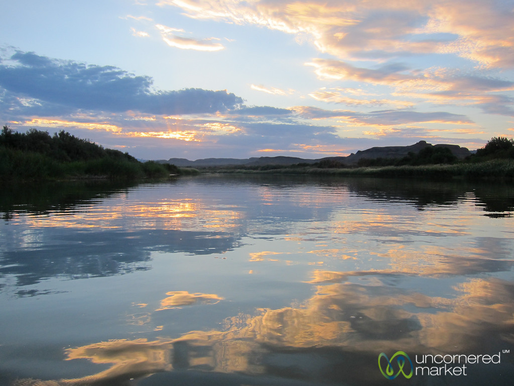 Orange River at Sunset - Northern Cape, South Africa