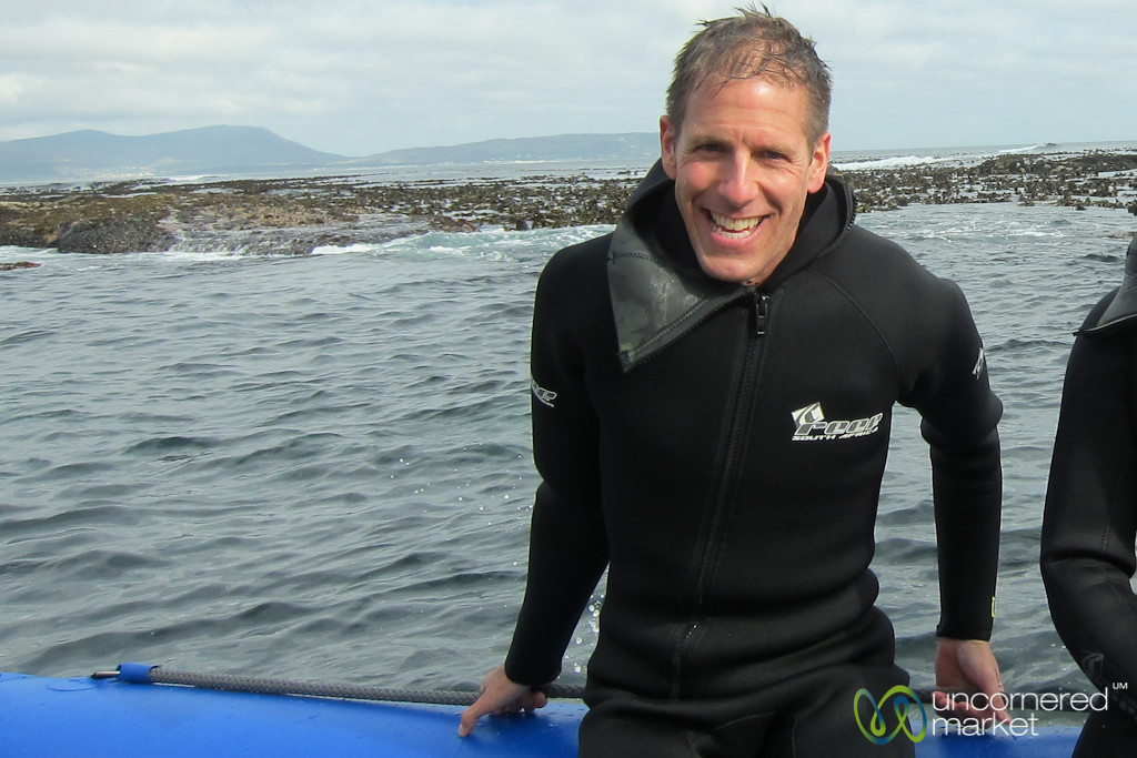 Dan after Snorkeling with Seal Pups - Hout Bay, South Africa