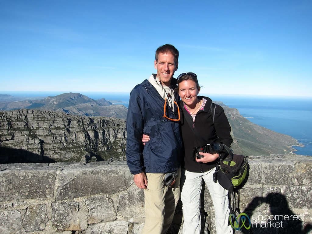 Dan & Audrey on Table Mountain - Cape Town, South Africa