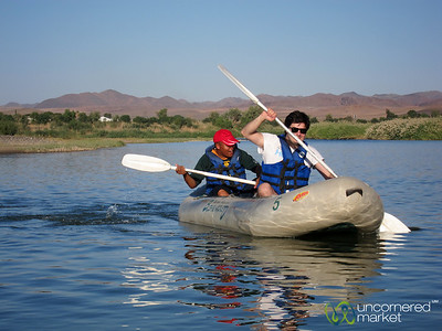 Canoeing on Orange River - Northern Cape, South Africa