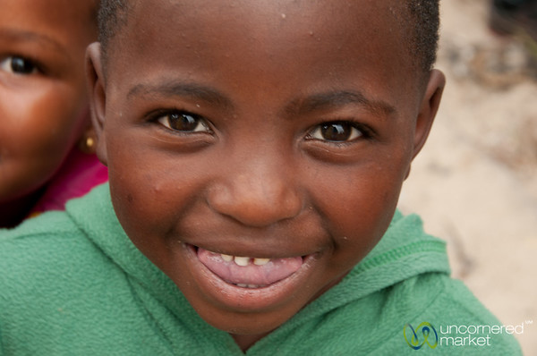 Child's Smile in Masiphumelele Township - Cape Town, South Africa