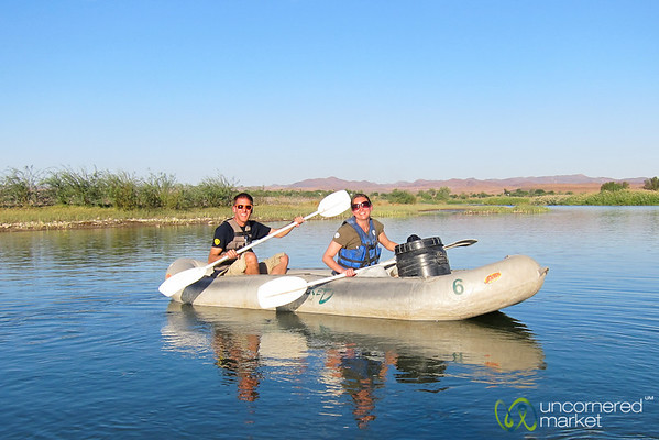 Dan and Audrey Canoeing on Orange River - Northern Cape, South Africa