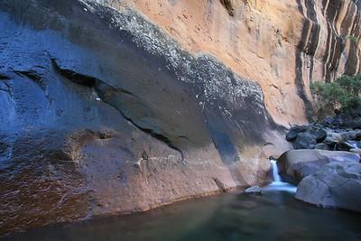 Small stream and waterfall in the Amphitheater, uKhahlamba/Drakensberg Park