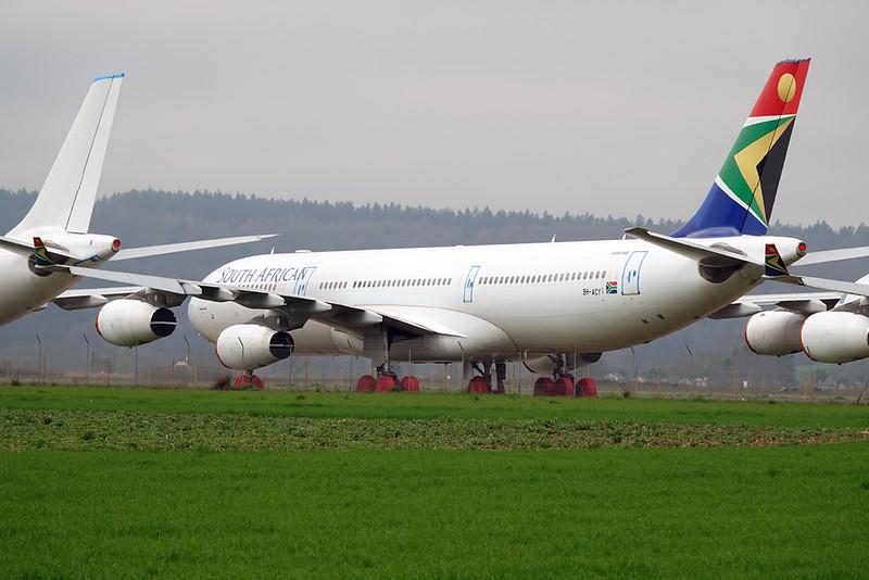 """9H-ACY Airbus A340-313E """"Leasing Company"""" c/n 582 Tarbes-Lourdes/LFBT/LDE 27-02-21"""