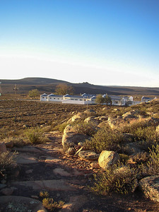 Looking back at the residence from the path towards the telescopes
