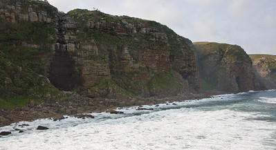 Rugged cliffs and sea cave
