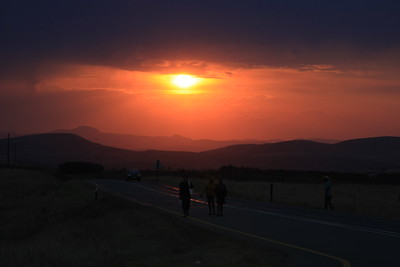 Sunset in the Transkei interior