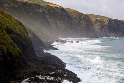 Cliffs along the Indian Ocean