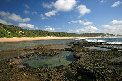 Coastline and coastal dunes near Mabibi
