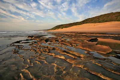 Secluded coastline near Mabibi