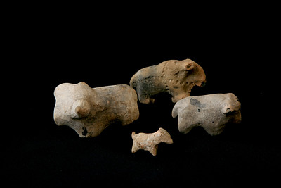Clay animal figurines found at Mapungubwe Cultural Landscape