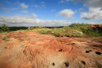 Cupules on Mapungubwe Hill