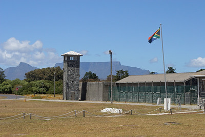 Prison with Table Mountain in the background
