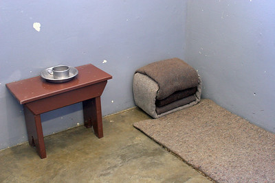 Nelson Mandela's prison cell while imprisoned on Robben Island