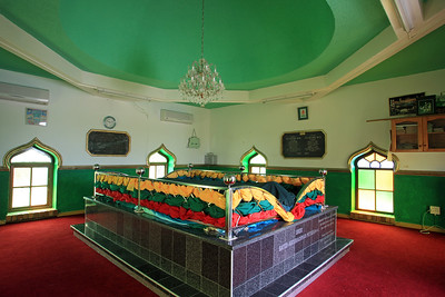 Interior of the Karamat (Muslim shrine), built over the grave of Hadje Matarim, an Islamic priest who was imprisoned on Robben Island in the mid 1700s.