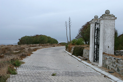 Front entrance gate to the officers quarters on Robben Island, first used by the military, then by prison officials.