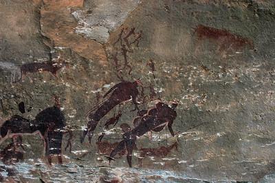 Rock art at Giant's Castle