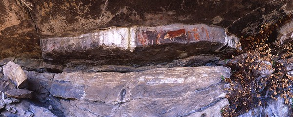 Rock painting at Game Pass Shelter