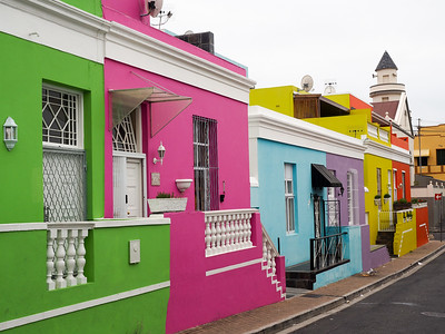 Colorful houses in Bo-Kaap, Cape Town