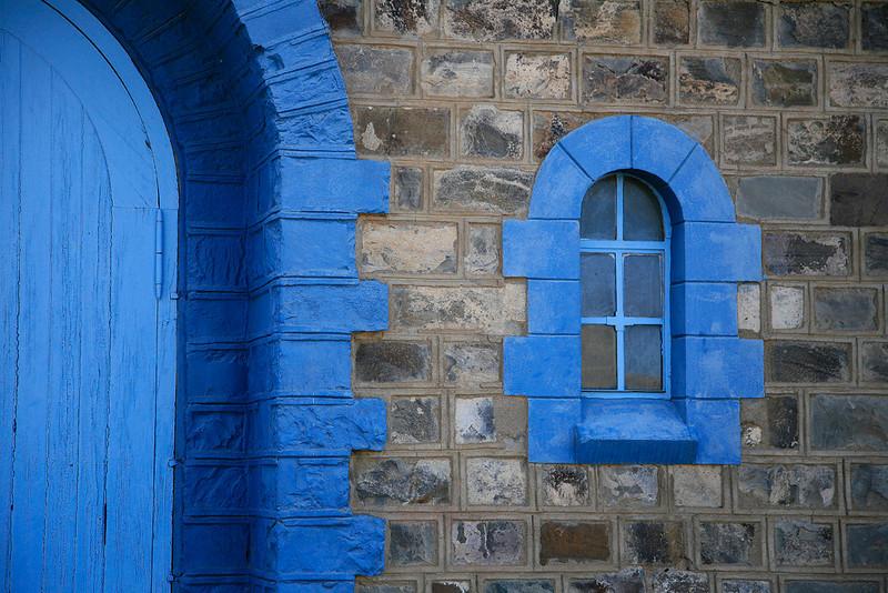 Church door and window - Kelin Aus, Namibia
